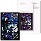 """Gottesdienst (2010) zur Karte """"St. Martin teilt seinen Mantel"""" (Glasfenster, Les Mans)"""