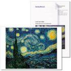 """Advents- u. Weihnachtszeit (2010) zur Karte """"Sternennacht"""" (van Gogh)"""