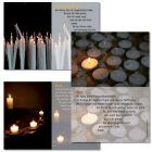 """Kerzenkärtchen """"Licht der Welt, Fürbitte und Vergewisserung"""""""