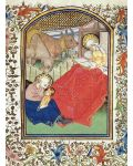 "Karte ""Geburt Jesu"" (Buchmalerei, 15. Jhdt.)"