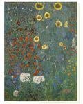 """Klappkarte """"Bauerngarten mit Sonnenblumen"""" (G. Klimt)"""