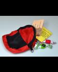 Mini-Rucksack (rot / blau / grün) - gefüllt