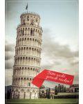 """Karte """"Schiefer Turm von Pisa"""" zum Schulanfang und zur Sommerzeit (2020)"""
